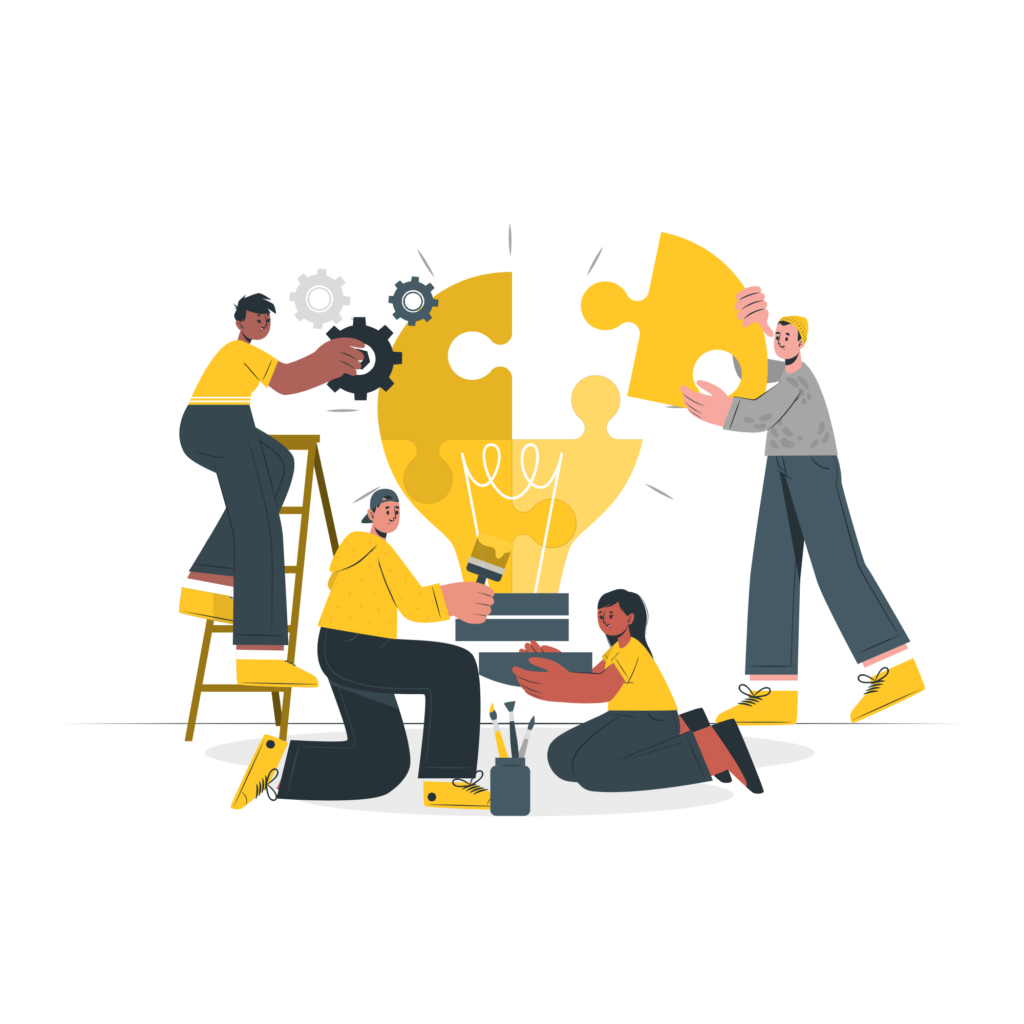 Team illustrations by Storyset